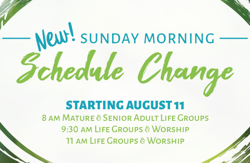 Sunday Morning Schedule Change