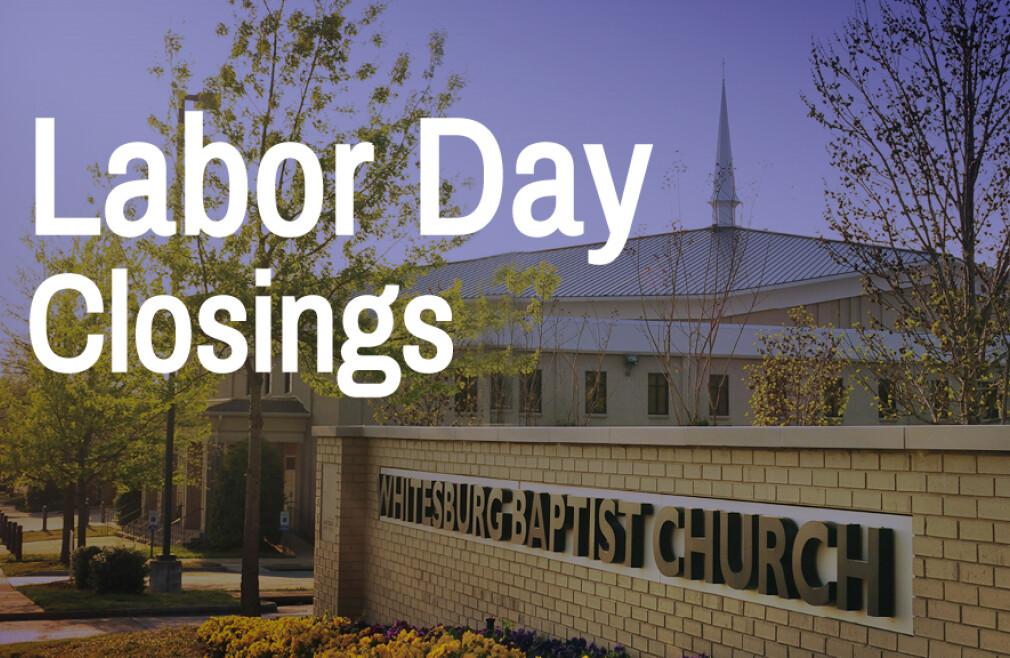 2019 Labor Day Closings