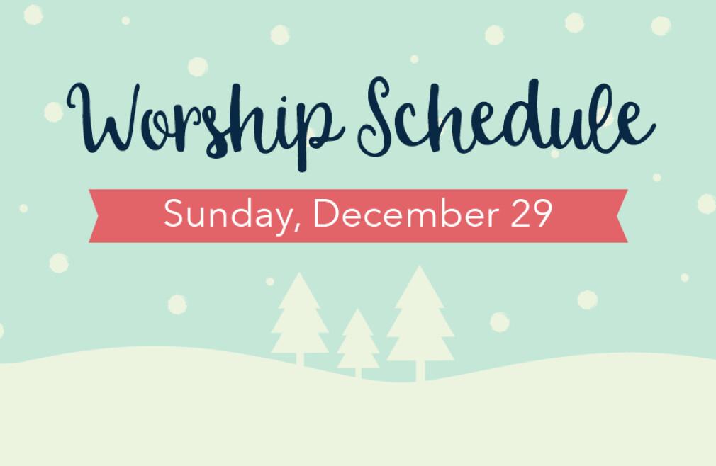 December 29 Schedule