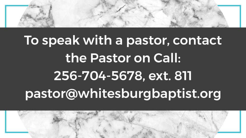 Contact a Pastor